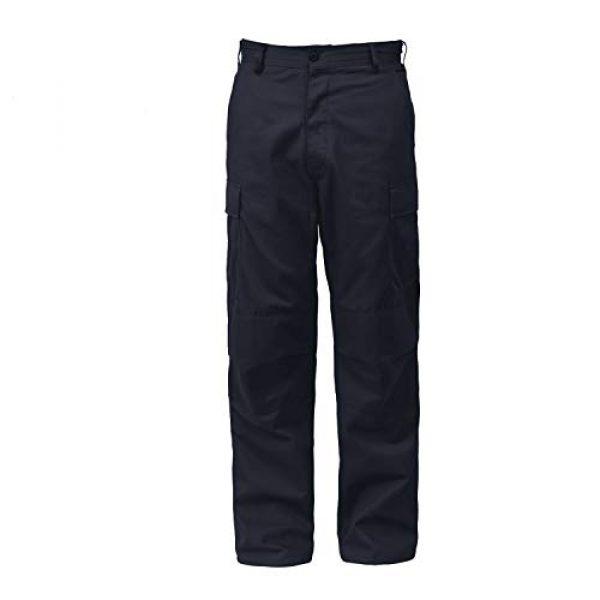 "Rothco Tactical Pant 1 Tactical BDU (Battle Dress Uniform) Military Cargo Pants, L (35""-39"" Waist), Midnight Navy Blue"
