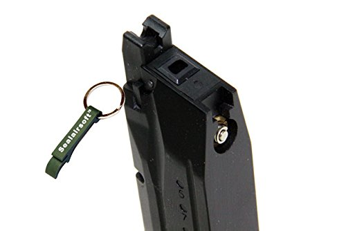 WE  2 WE 15rds Airsoft Gas Magazine For M&P Compact Series GBB Black -Mobile Ring Included