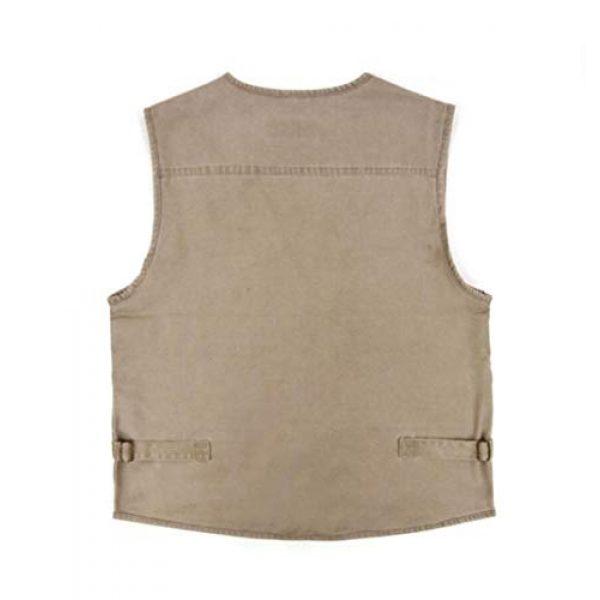 DAFREW Airsoft Tactical Vest 2 DAFREW Multi-Pocket Vest Fishing Vest Outdoor Photography Vest Spring and Autumn Solid Color Vest (Color : Beige, Size : XXXXL)