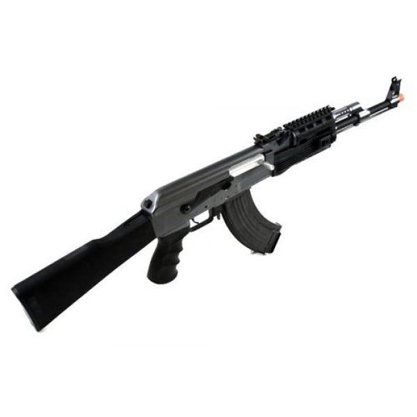 BBTac Airsoft Rifle 4 BBTac BT-AK Tactical RIS AEG w/ Integrated Rail System, Full Metal Gearbox (BLACK)