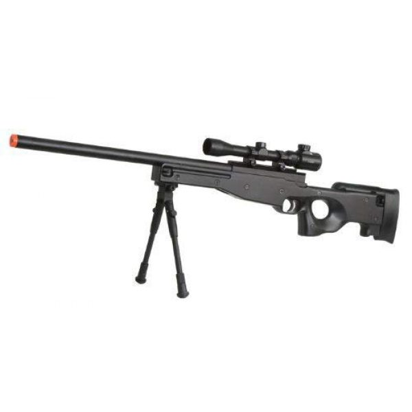 BBTac Airsoft Rifle 1 BBTac Airsoft Sniper Rifle Bolt Action Gun Full Metal Spring Loaded with Scope and Bipod High FPS