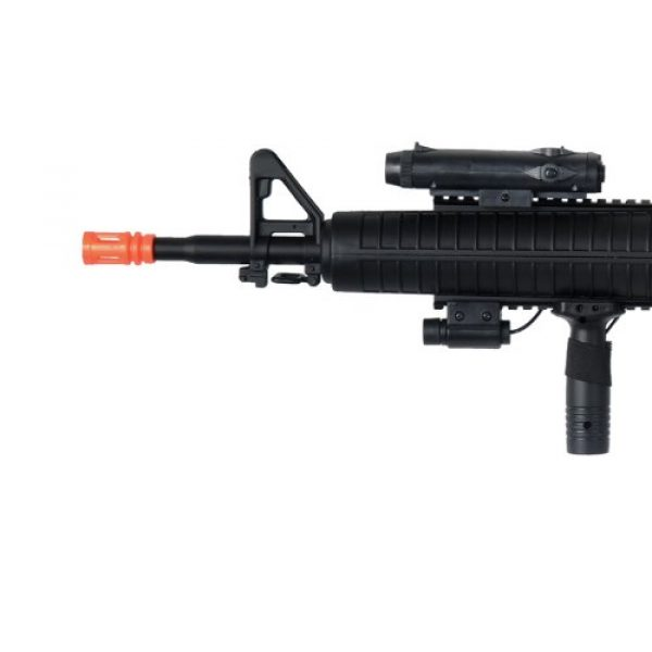 Well Airsoft Rifle 2 Well m16-a3 RIS Spring Airsoft Gun Assault Rifle fps-340 w/Aiming Sight, Flashlight, high Capacity Magazine(Airsoft Gun)