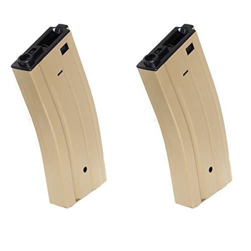 Airsoft Shopping Mall  1 Airsoft Shooting Gear 2pcs 330rd Map Hi-Cap Magazine for CYMA E&C G&P Tokyo Marui ICS Classic Army M4 M16 Series Tan