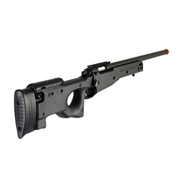 AGM Airsoft Rifle 4 AGM L96 Bolt Action Spring Sniper Airsoft Rifle Gun FPS 465 (Black)