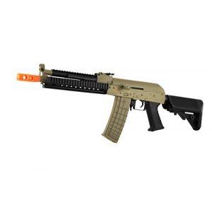 Lancer Tactical Airsoft Rifle 1 lancer tactical lt-10 beta project ak-47 ris electric airsoft gun polymer body metal gearbox fps-380 w/ high capacity magazine (tan)(Airsoft Gun)