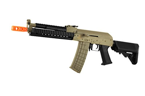 Lancer Tactical  1 lancer tactical lt-10 beta project ak-47 ris electric airsoft gun polymer body metal gearbox fps-380 w/ high capacity magazine (tan)(Airsoft Gun)