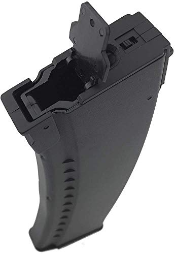 SportPro  3 SportPro 500 Round Polymer AKM Style High Capacity Magazine for AEG AK47 AK74 Airsoft - Black