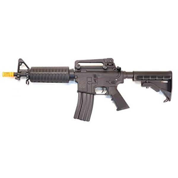 CyberGun Airsoft Rifle 1 CyberGun Colt M4 Sportsline Commando AEG- Black, Includes Battery and Charger, Multi-Color (180894/92584)