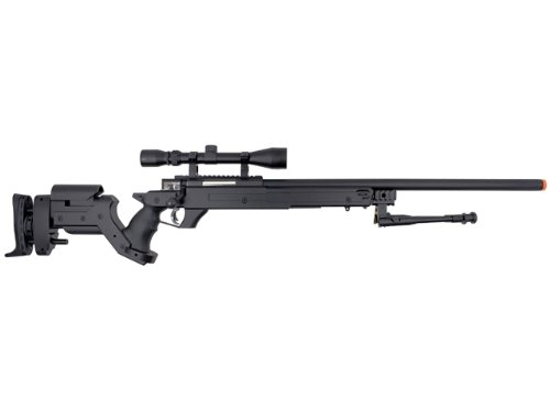 Well  1 Well awn aps2 spring sniper airsoft rifle w/ bi-pod & scope(Airsoft Gun)