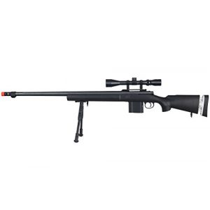 Well Airsoft Rifle 1 Well MB4405BAB Spring Sniper Airsoft Rifle w/Scope & Bipod (Black)