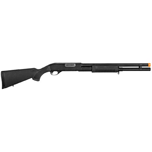 Lancer Tactical  2 Lancer Tactical Long M870 Shell Loading TriShot Airsoft Shotgun Black