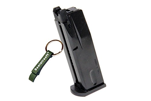 WE  1 WE 15rds Airsoft Gas Magazine For WE M84 CHEETA Series GBB Black -Mobile Ring Included