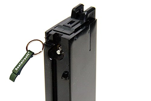 WE  2 WE 26rds Airsoft Gas Magazine M712 C96 Series GBB Black -Mobile Ring Included