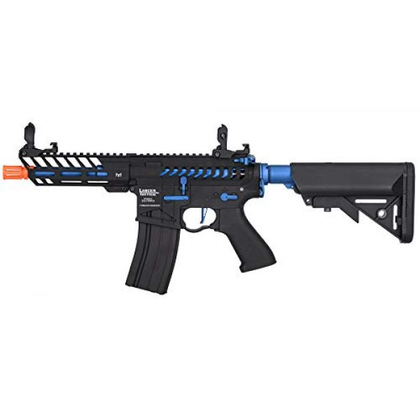 Lancer Tactical Airsoft Rifle 1 Lancer Tactical LT-29BACNL-G2-ME Enforcer AEG Airsoft Rifle Skeleton Black and Navy Blue 350 FPS