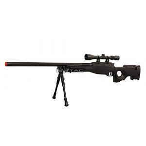 BBTac Airsoft Rifle 1 BBTac b96 awp airsoft sniper rifle with 3-9x40 scope and bi-pod warrior 1(Airsoft Gun)