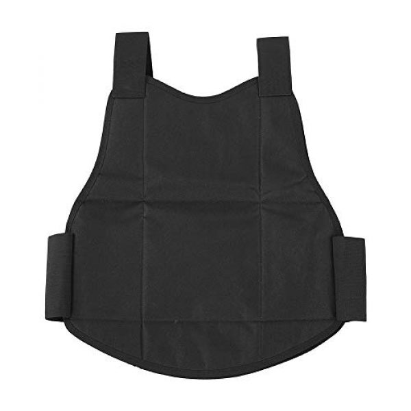 Tbest Airsoft Tactical Vest 3 Tactics Protection Vest, Nylon Black Lightweight Outdoor Shooting Body Tactics Protection Vest for Travelling Jungles Shrubs Archery Sports