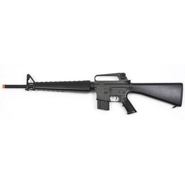 Prima USA Airsoft Rifle 1 jg m16a1 vietnam aeg airsoft rifle with full stock - black(Airsoft Gun)