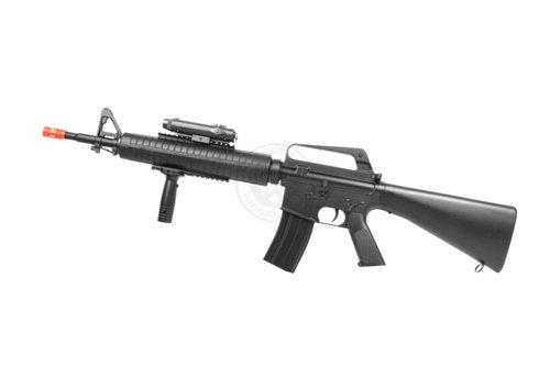 Well  3 wellfire m16a3 Spring Airsoft Rifle - w/Vertical Grip & Flashlight Unit m16(Airsoft Gun)