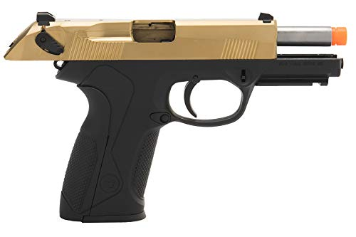 Lancer Tactical  6 Lancer Tactical WE Bulldog Full Size Full Metal Gas Blowback Airsoft Pistol Titanium Gold 280 FPS