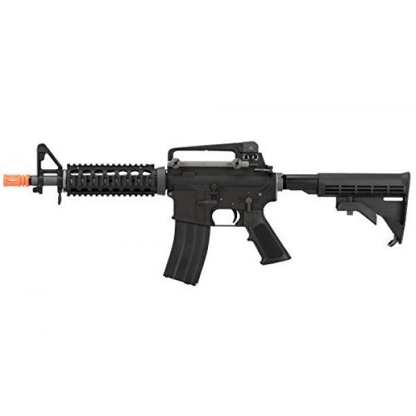 Lancer Tactical Airsoft Rifle 1 Lancer Tactical WE Full Metal M4 CQB RIS Open Bolt Gas Blowback Airsoft Rifle Black 420 FPS