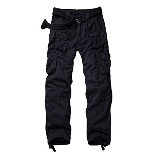 AKARMY Tactical Pant 1 Men's Lightweight Cotton Casual Work Pants,Relaxed Fit Tactical Army Ripstop Cargo Pants with 11 Pockets