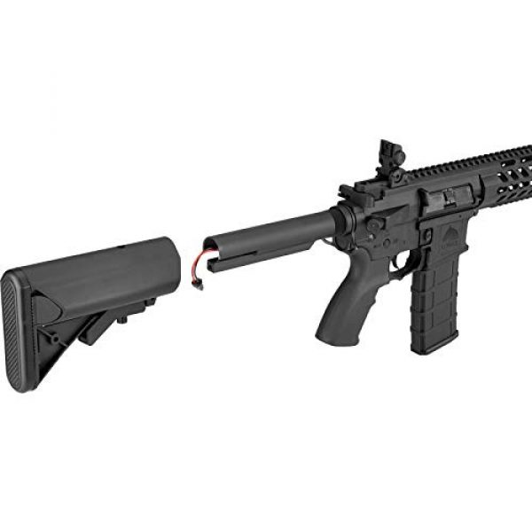 "Lancer Tactical Airsoft Rifle 7 Lancer Tactical 10.5"" Rapid Deployment Carbine M4 RDC Airsoft AEG Rifle Low Speed Black"