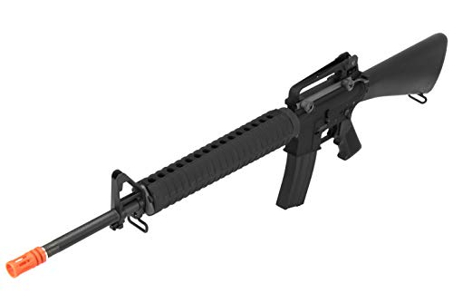 Lancer Tactical  3 Lancer Tactical WE M16A3 Open Bolt Full Metal Gas Blowback Airsoft GBBR Rifle Black