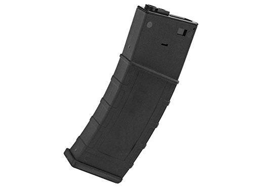 LONEX  1 Lonex AIRSOFT M4 M16 SCAR PLASTIC BLACK FLASH PMAG MAGAZINE 360RDS ASG PULL CORD