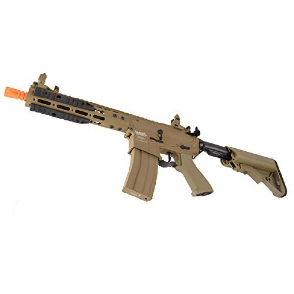 """Lancer Tactical Airsoft Rifle 4 Lancer Tactical Proline 9"""" KeyMod with Picatinny M4 Carbine AEG Airsoft Rifle Tan 395 FPS"""