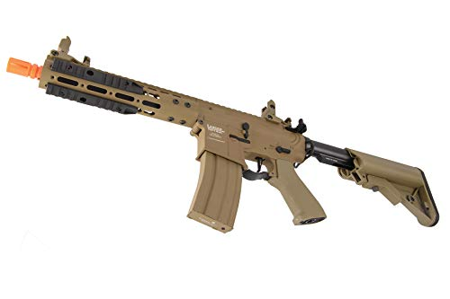 "Lancer Tactical  4 Lancer Tactical Proline 9"" KeyMod with Picatinny M4 Carbine AEG Airsoft Rifle Tan 395 FPS"