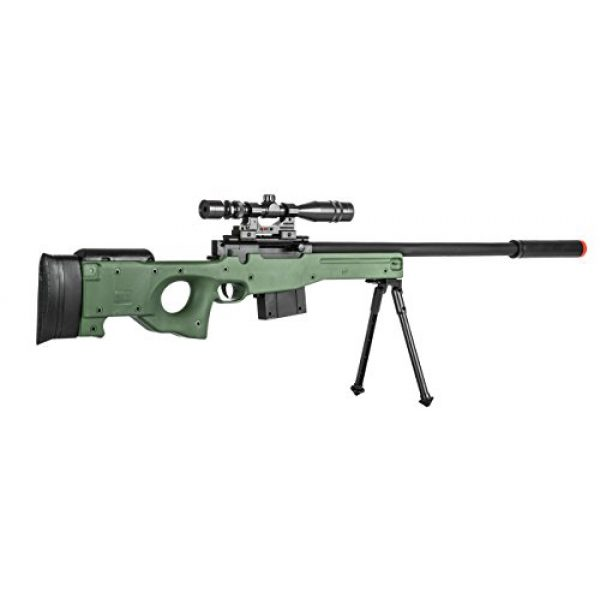 Lancer Tactical Airsoft Rifle 3 300 FPS - Airsoft Sniper Spring Rifle Gun with Scope and Laser