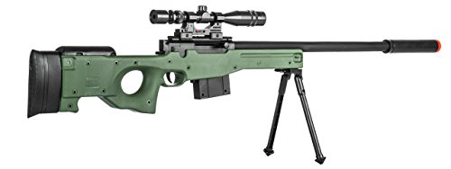 Lancer Tactical  3 300 FPS - Airsoft Sniper Spring Rifle Gun with Scope and Laser