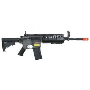 Jing Gong (JG) Airsoft Rifle 1 JG airsoft m 4 s-system full metal gearbox black aeg rifle w/ integrated ris and high performance tight bore barrel - newest enhanced model(Airsoft Gun)