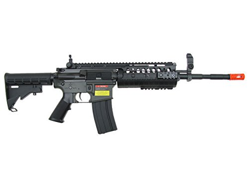 Jing Gong (JG)  1 JG airsoft m 4 s-system full metal gearbox black aeg rifle w/ integrated ris and high performance tight bore barrel - newest enhanced model(Airsoft Gun)