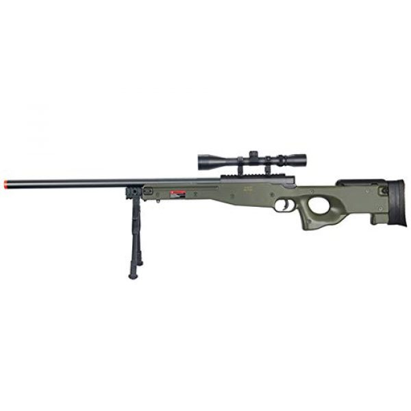 Well Airsoft Rifle 1 Well MB01 Airsoft Sniper Rifle W/Scope and Bipod - OD Green