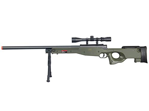 Well  1 Well MB01 Airsoft Sniper Rifle W/Scope and Bipod - OD Green