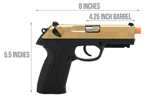 Lancer Tactical  2 Lancer Tactical WE Bulldog Full Size Full Metal Gas Blowback Airsoft Pistol Titanium Gold 280 FPS
