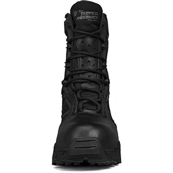 """Belleville Tactical Research TR Combat Boot 4 Belleville Tactical Research TR Men's TR Chrome TR998Z WP CT 8"""" Waterproof Side-Zip Composite Toe Boot"""