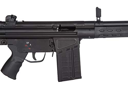 Lancer Tactical  7 Lancer Tactical LCT Stamped Steel Full Stock LC-3A3-S Airsoft AEG Rifle Black