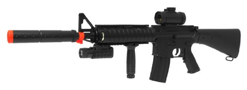 Double Eagle  1 Electric Double Eagle Silenced m83b1 Tactical m4 Assault Rifle fps-200 Airsoft Gun(Airsoft Gun)
