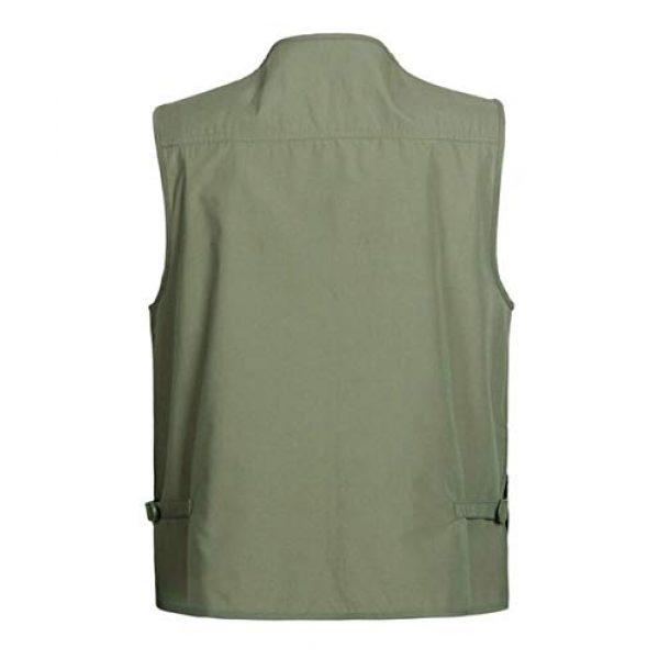 DAFREW Airsoft Tactical Vest 2 DAFREW Thin Vest Outdoor Leisure Fishing Vest Men's Vest Photography Vest (Color : Green, Size : XXL)