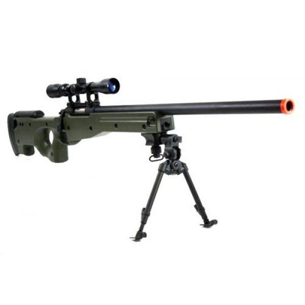 BBTac Airsoft Rifle 5 BBTac BT-96 Bolt Action Sniper Rifle w/ 3-9x Scope and Bipod - OD GREEN