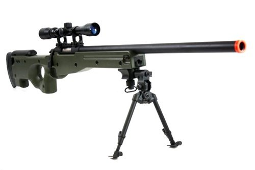 BBTac  5 BBTac BT-96 Bolt Action Sniper Rifle w/ 3-9x Scope and Bipod - OD GREEN