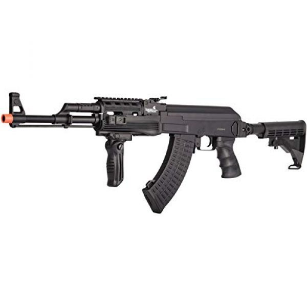 Lancer Tactical Airsoft Rifle 3 Lancer Tactical Airsoft Full Metal AK-47 AEG Rifle LE Stock with Battery & Charger Black