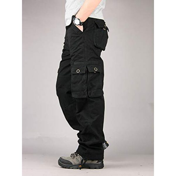 Raroauf Tactical Pant 3 Men's Military Tactical Pants Casual Cargo Pants Combat Trousers with Multi-Pocket