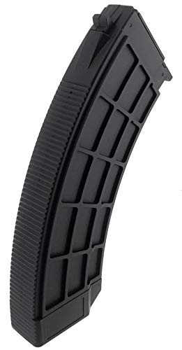 SportPro  5 SportPro 130 Round Polymer Thermold Waffle Medium Capacity Magazine for AEG AK47 AK74 Airsoft - Black