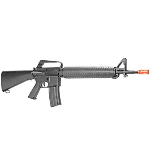 BBTac Airsoft Rifle 1 BBTac M16-A1 Vietnam Model Spring Action Assault Rifle, Black (BT-M16A1_(a))