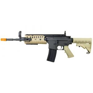 Jing Gong (JG) Airsoft Rifle 1 JG airsoft m4 s-system full metal gearbox desert tan aeg rifle w/ integrated ris and high performance tight bore barrel - newest enhanced model(Airsoft Gun)