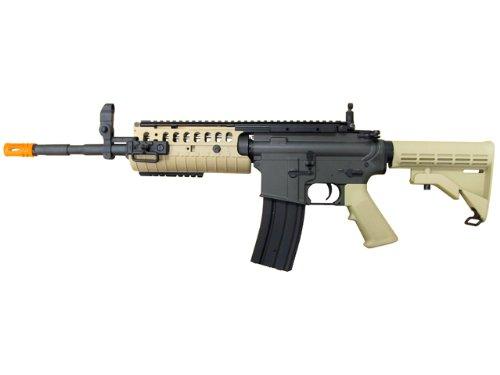 Jing Gong (JG)  1 JG airsoft m4 s-system full metal gearbox desert tan aeg rifle w/ integrated ris and high performance tight bore barrel - newest enhanced model(Airsoft Gun)