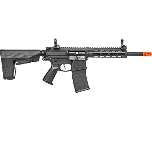 Lancer Tactical  2 Lancer Tactical Classic Army DT-4 Double Barrel AR AEG Airsoft Rifle Black 350 FPS